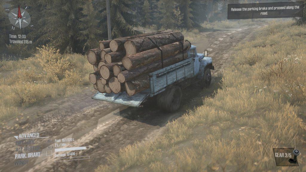 Spintires Mudrunner 木材の移送