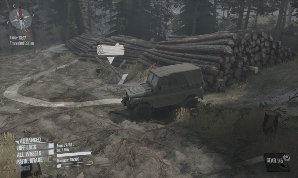 Spintires Mudrunner 攻略 伐採所
