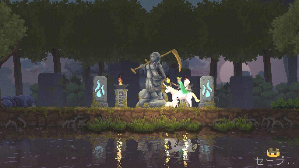 Kingdom New Lands 石像 農民の石像