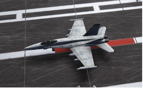carrier deck fighters title F/A-18