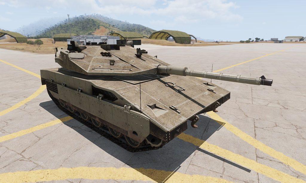 arma3 m2a1 Slammer 01(モデル兵器 メルカバ Mk4)
