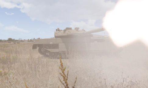 m2a1 Slammer shot01 (モデル兵器 メルカバ Mk4)