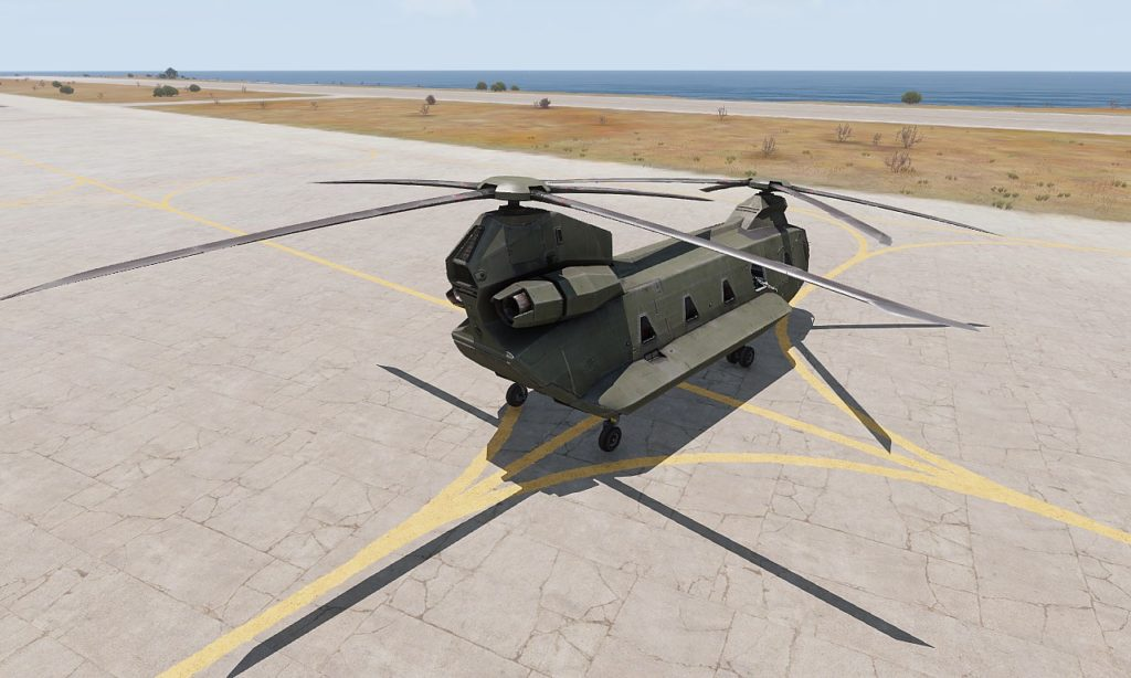 Arma3 Helicopters DLC CH-67 Huron rear