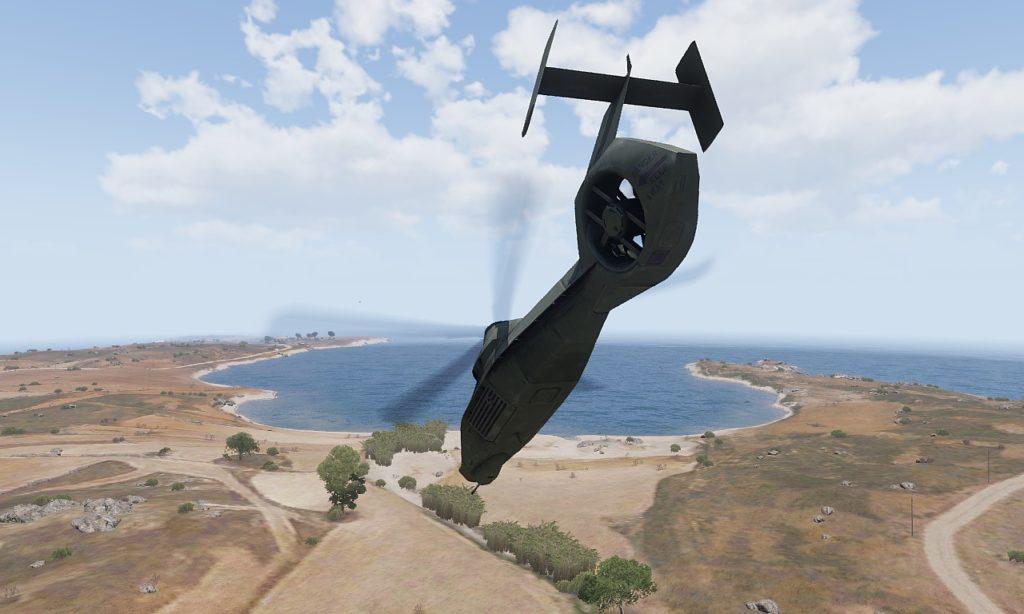 Arma 3 AH-99 Blackfoot Flying