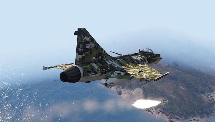 Arma3 A-149 Missile launch  ( based JAS-39 )