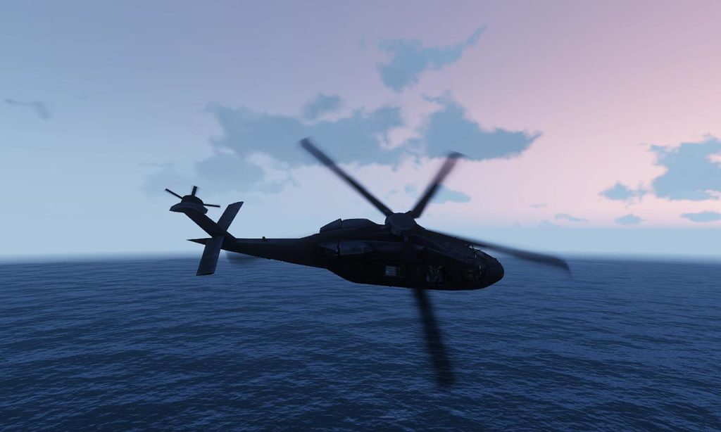 Arma3 UH-80 Ghost Hawk Flying